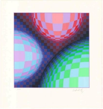 Lithographie Vasarely - Phoenix Constellation