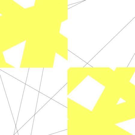 Lithographie Morellet - Pi& plis