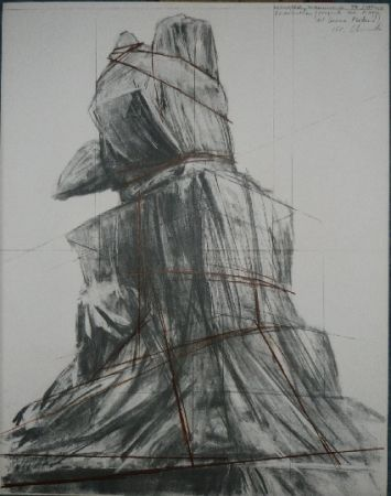 Lithographie Christo - PIAZZA DEL DUOMO MILAN