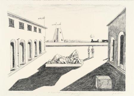 Lithographie De Chirico - Piazza d'Italia