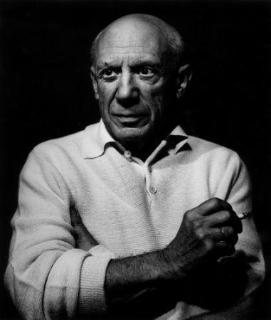 Photographie Clergue - Picasso con un cigarro