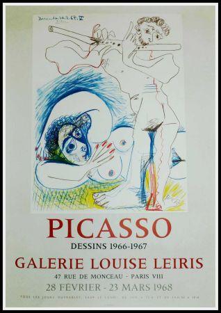 Affiche Picasso - PICASSO, DESSINS 1966-1967 GALERIE LEIRIS 1968