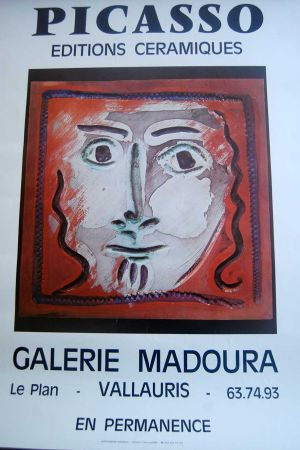 Affiche Picasso - Picasso Editions Ceramiques. Galerie Madoura