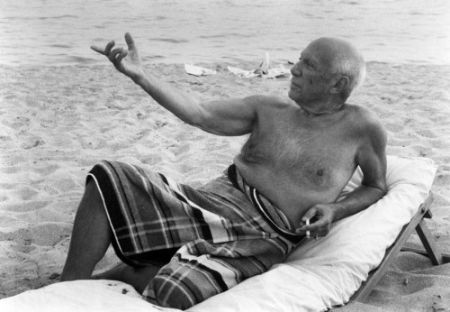 Photographie Clergue - Picasso En La playa