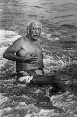Photographie Clergue - Picasso en la playa I