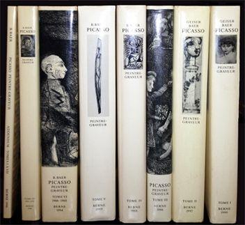Livre Illustré Picasso - Picasso. Peintre-Graveur. Catalogue raisonné de l'oeuvre gravé. 1899-1972. 7 Volumes + Adenda