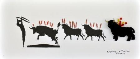Lithographie Leirner - Picasso Toros-1