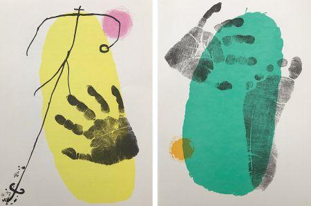 Lithographie Miró - Pieds et Mains (Paire)