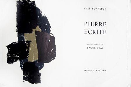 Lithographie Ubac - Pierre écrite