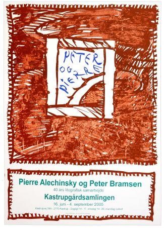 Affiche Alechinsky - Pierre Alechinsky og Peter Bramsen, 40 års lithographisk samarbejde