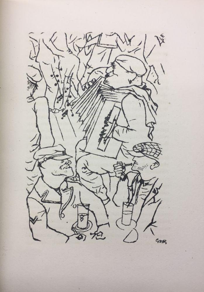 Livre Illustré Grosz - Pierre Mac Orlan : PORT D'EAUX MORTES. Lithographies de Georges Grosz. 1926.