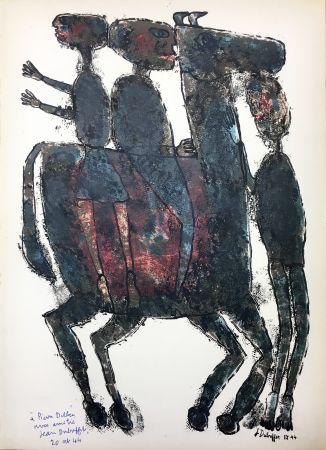 Lithographie Dubuffet - Pierre Seghers : L'HOMME DU COMMUN ou Jean Dubuffet (1944).