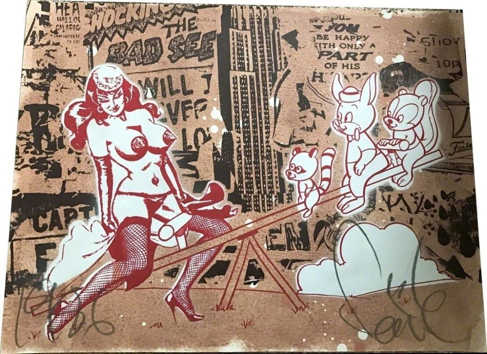 Lithographie Faile - Pin up Red