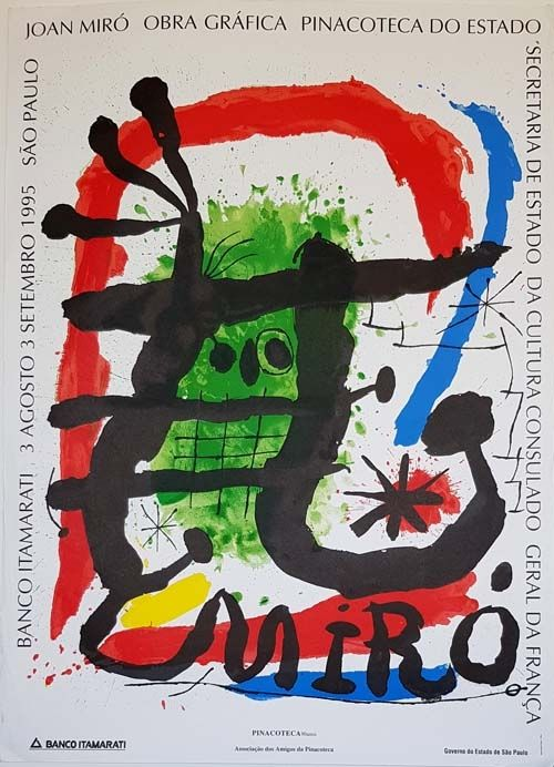 Lithographie Miró - Pinacoteca De Estado  Sao Paulo