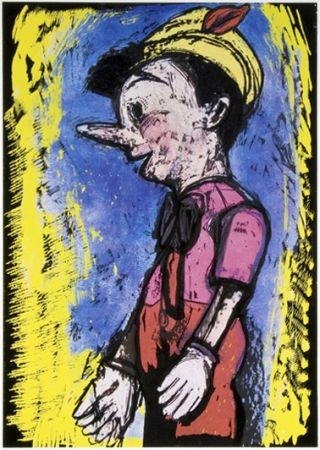Sérigraphie Dine - Pinocchio
