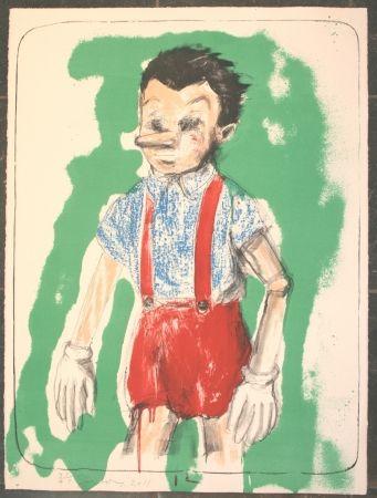 Lithographie Dine - Pinocchio