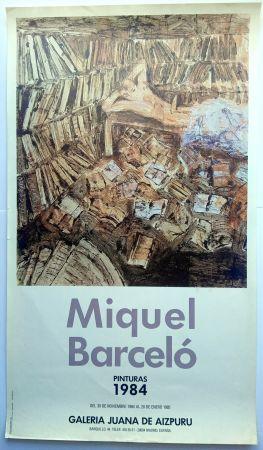 Affiche Barcelo - Pinturas 1984