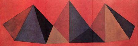 Lithographie Lewitt - Piramidi IV