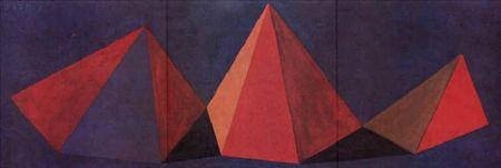 Lithographie Lewitt - Piramidi VI