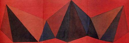 Lithographie Lewitt - Piramidi VIII