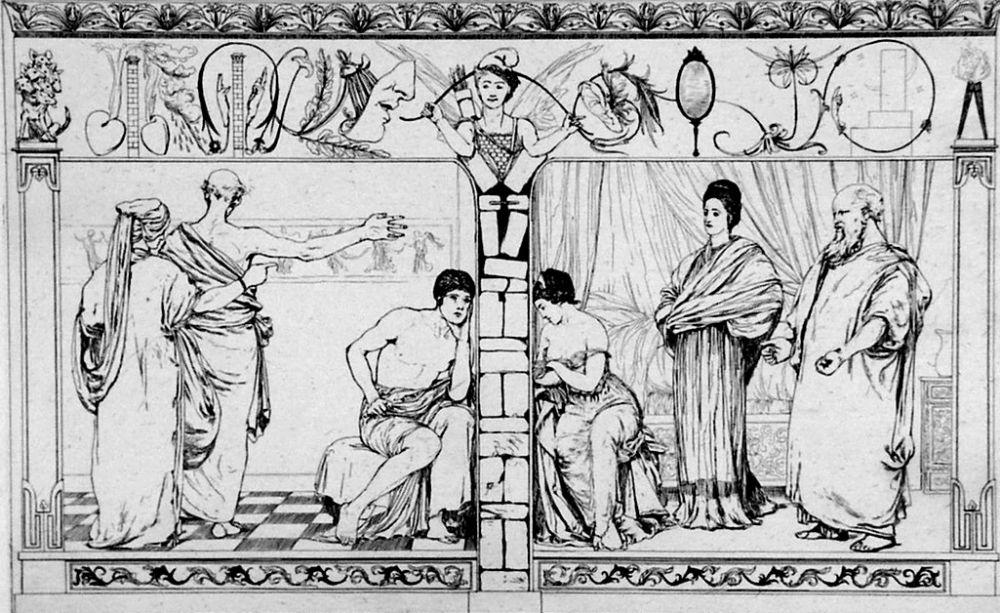 Eau-Forte Et Aquatinte Klinger - Piramo e Tisbe I(foglio 2a)