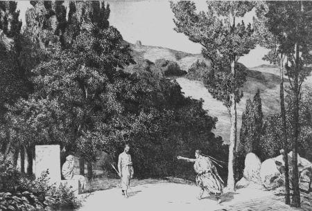 Eau-Forte Et Aquatinte Klinger - Piramo e Tisbe III
