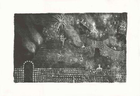 Lithographie Brecht Evens - Piscine des Rigoles