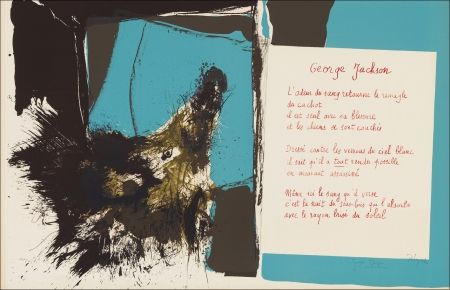 Lithographie Rebeyrolle - Placard Dupin