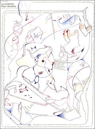 Lithographie Voss - Placard Handke