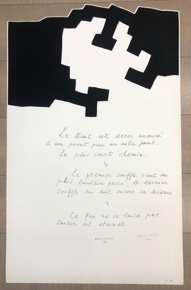 Sérigraphie Chillida - Placard Jabes