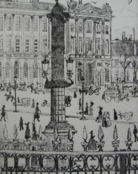 Gravure Vrieslander - Place de la Concorde