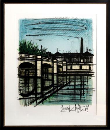 Lithographie Buffet - Place de la Concorde