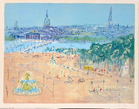 Lithographie Dufy - Place de la Concorde
