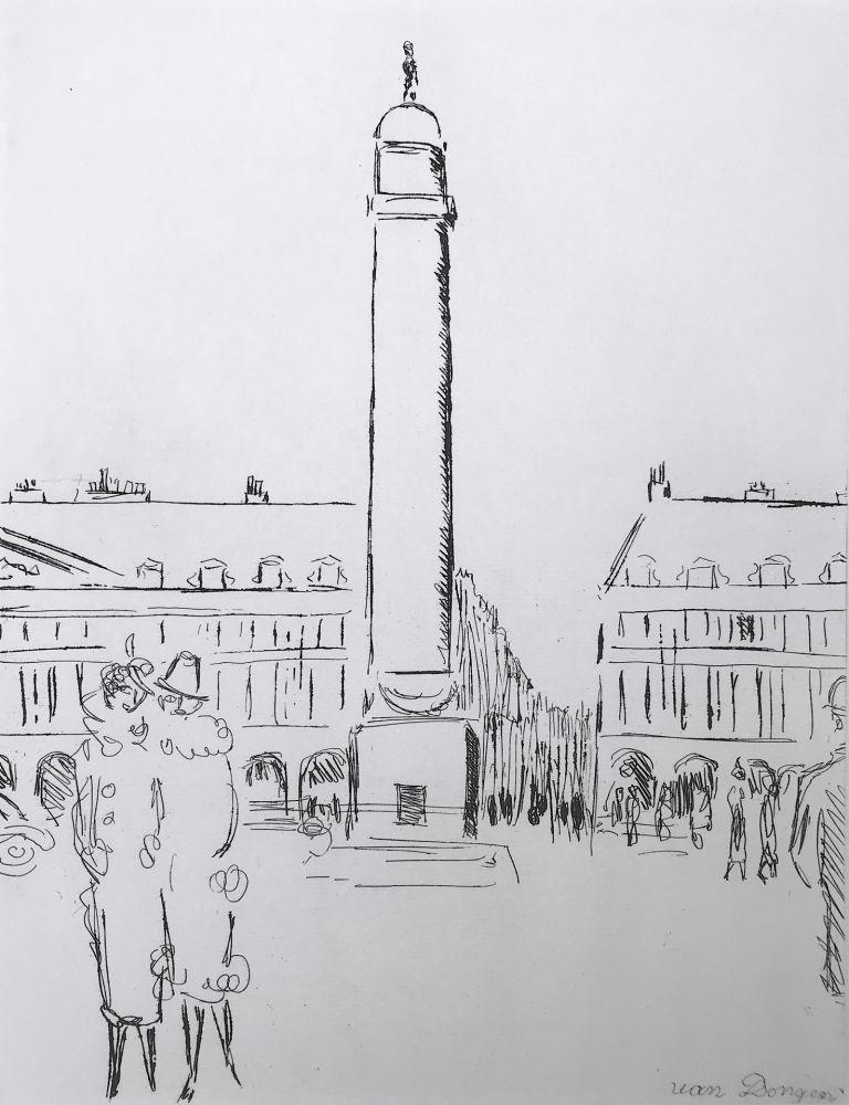Gravure Van Dongen - Place Vendome