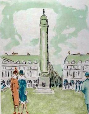 Lithographie Van Dongen - Place Vendome