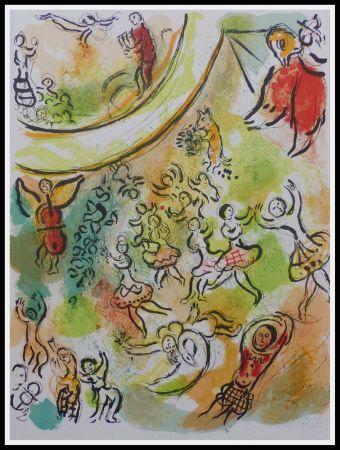 Lithographie Chagall - PLAFOND DE L'OPERA GARNIER