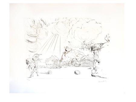 Gravure Dali - Plage de Cadaques