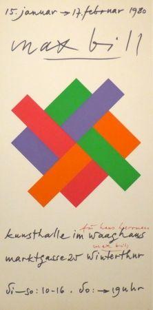 Sérigraphie Bill - Plakat Kunsthalle Winterthur