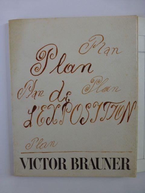 Livre Illustré Brauner - Plan de l'exposition galerie Iolas 1966
