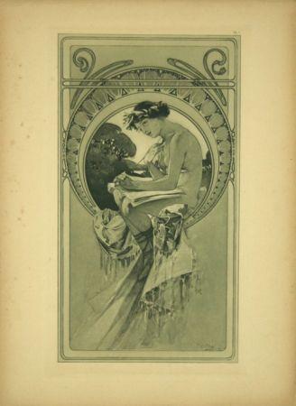 Lithographie Mucha - Planche  7   Documents décoratifs