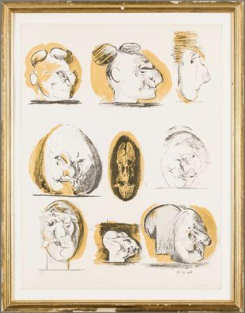 Lithographie Sutherland - Planches D'etudes ( tetes )