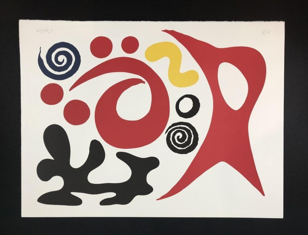Lithographie Calder - Plancton ( plankton )
