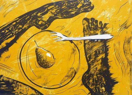 Lithographie Socias - Plat