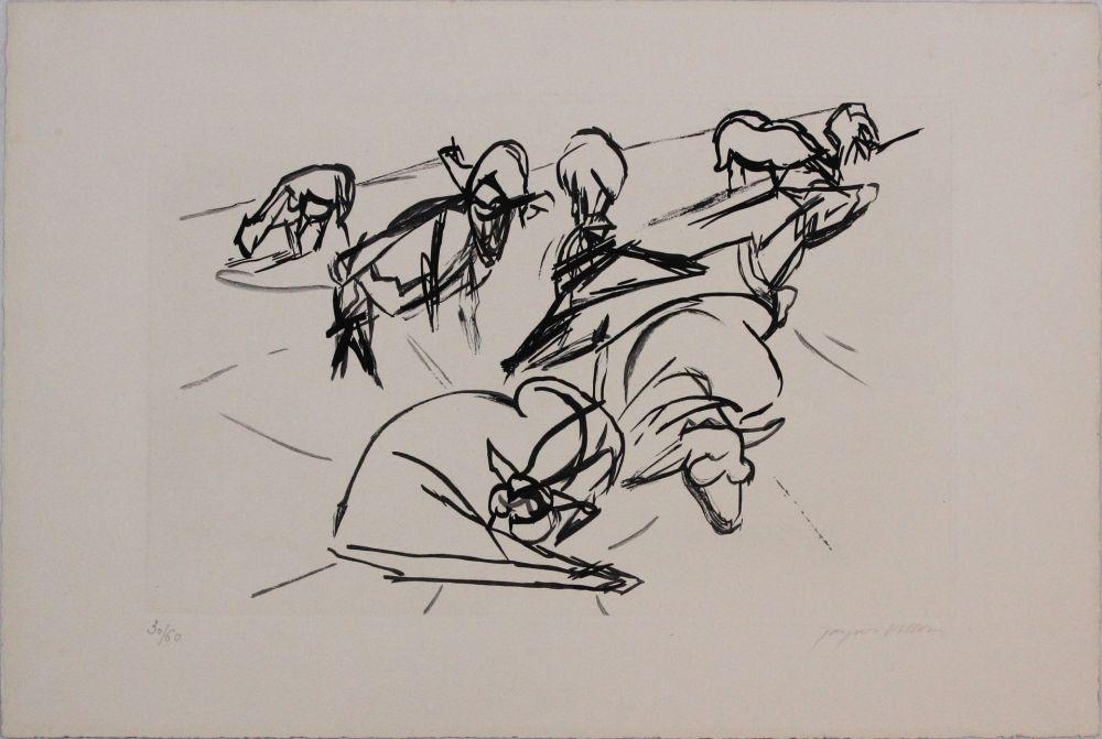 Aquatinte Villon - Plate X from 'Hesiode, Les Travaux et les Jours' portfolio