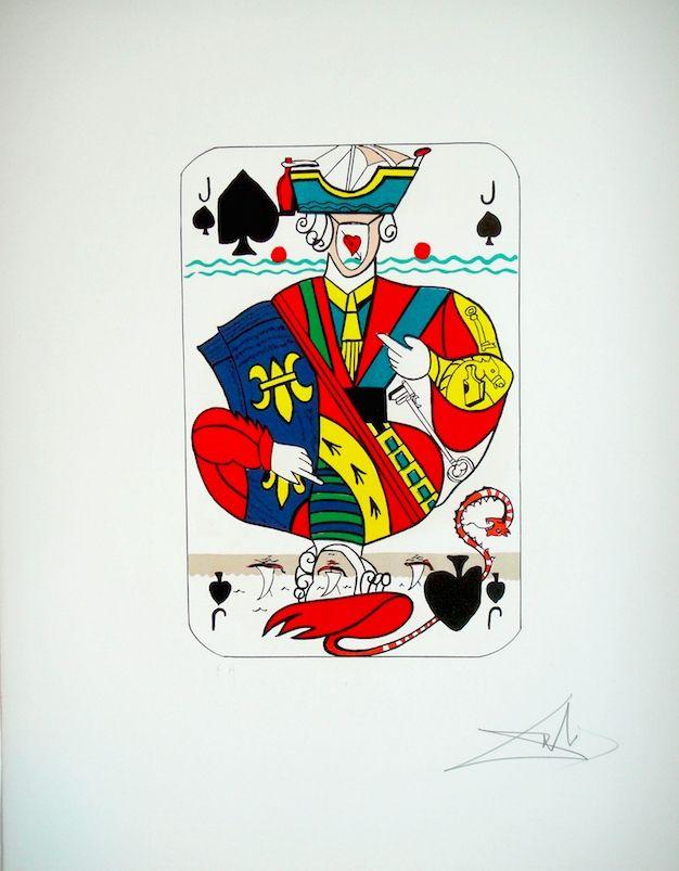 Lithographie Dali - Playing card Valet de Pique (29)