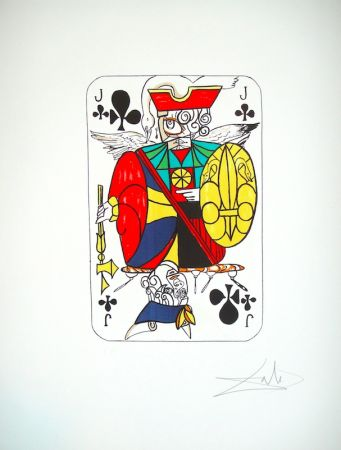 Lithographie Dali - Playing card Valet de Trefle (25)