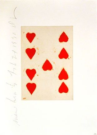 Aquatinte Sultan - Playing Cards (9 Of Hearts)