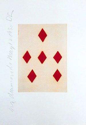 Aquatinte Sultan - Playing Cards (Six Of Diamonds)