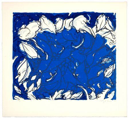 Lithographie Wyckaert - Plutôt bleu