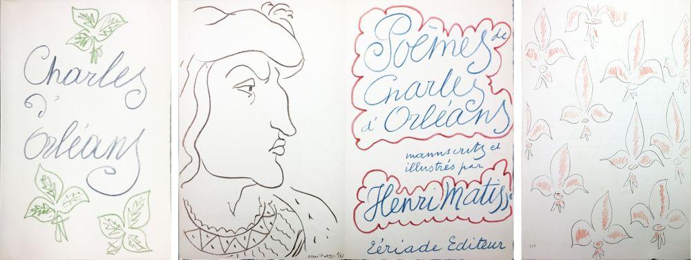 Livre Illustré Matisse - POÈMES DE CHARLES D'ORLÉANS 54 lithographies par Henri Matisse (1950).